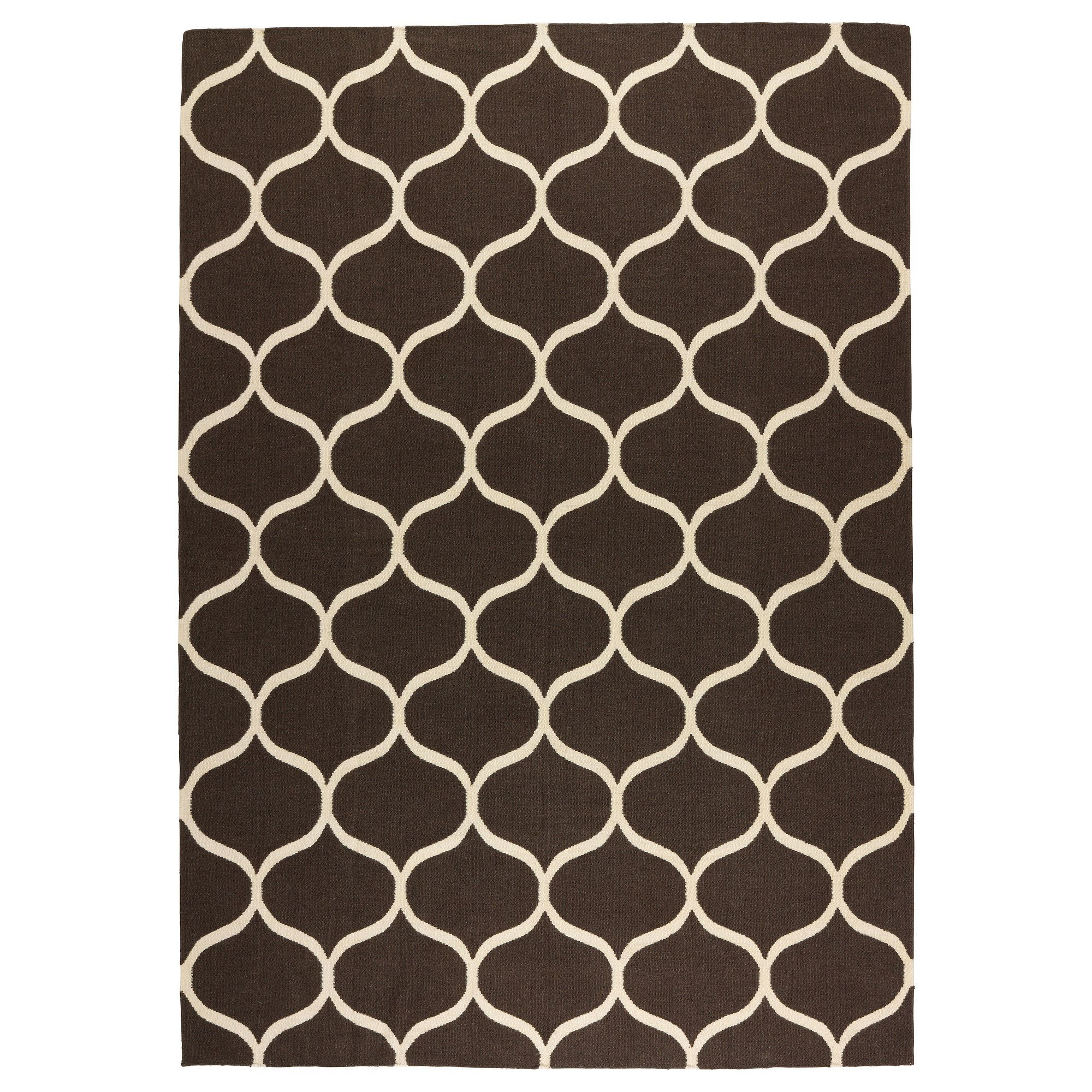 stockholm rug, flatwoven - ikea found this pattern in black and