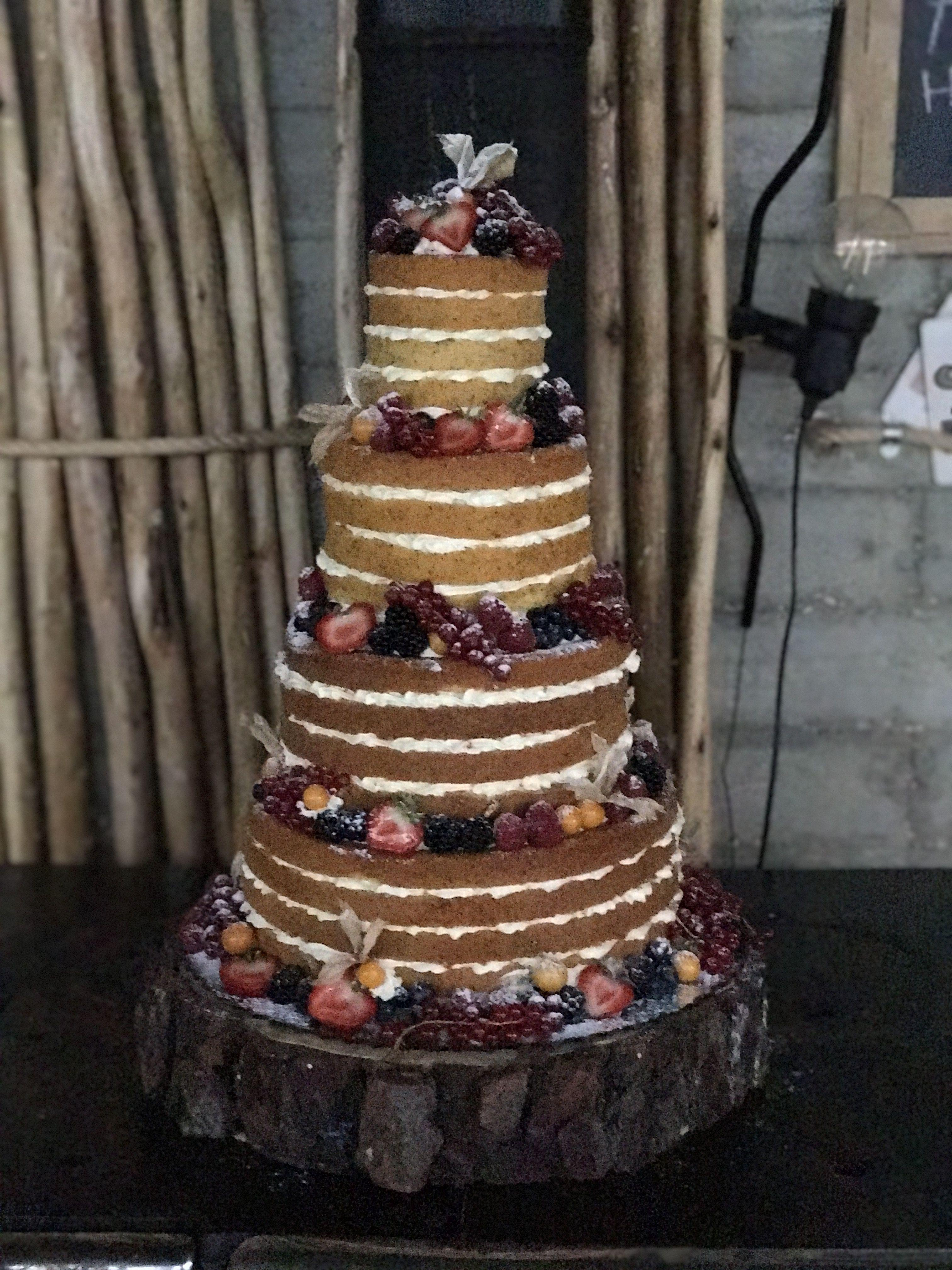 Naked wedding cake food decorating pinterest wedding cake