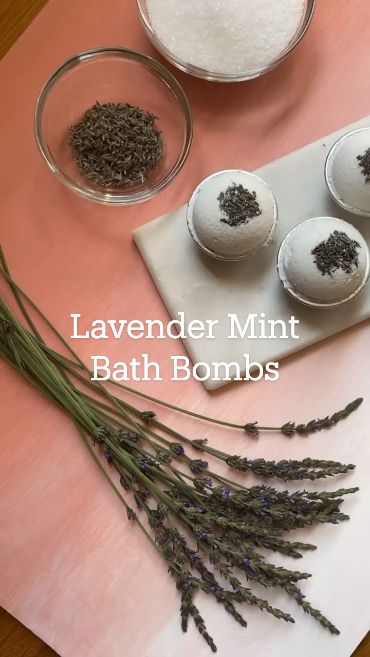 Lavender Mint Bath Bombs
