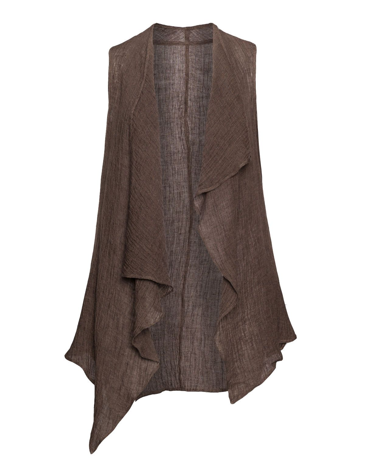ISOLDE ROTH - Linen sleeveless cardigan - navabi | cardigans ...