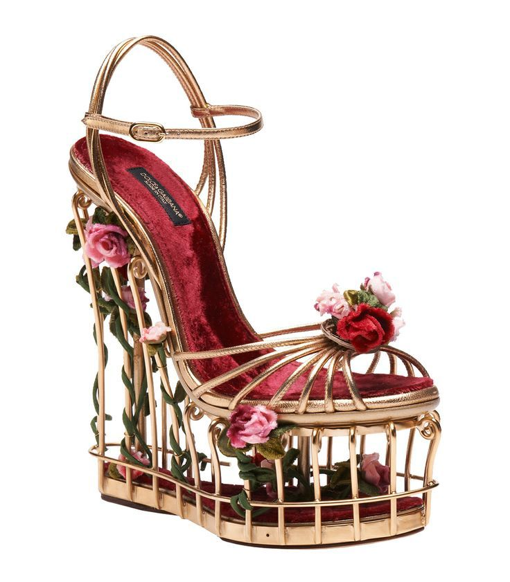 cc49706a269 Unique and Fashionable sandal. Image result for Dolce  amp  Gabbana Rose-embellished  metallic leather cage ...
