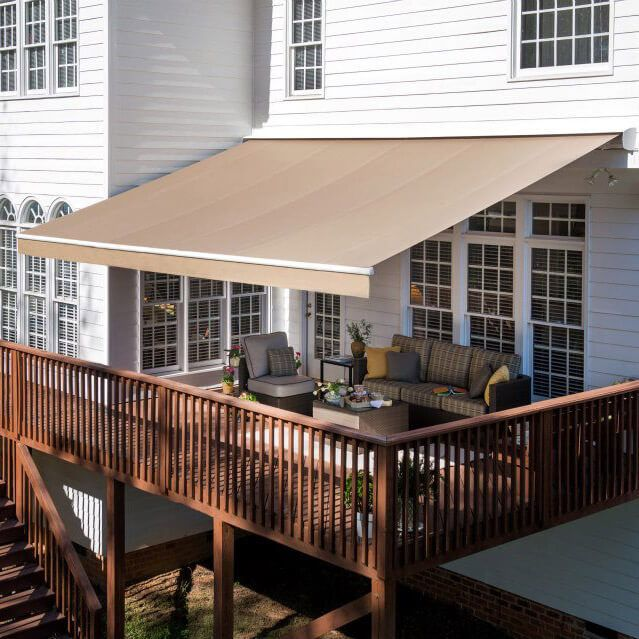 Solair Shade Solutions Awning Ps2000 15 6 X 10 2 In 2020 Outdoor Awnings Deck Shade Patio Awning