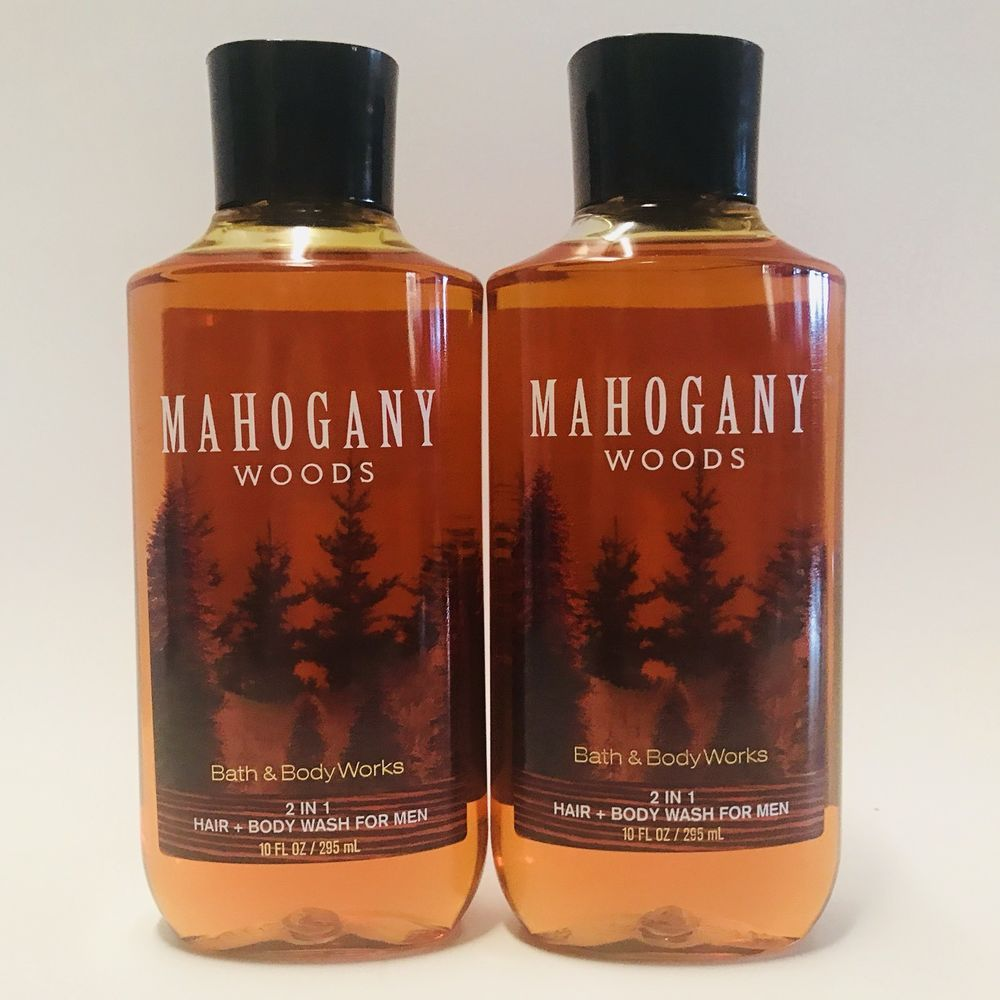 2 Bath Body Works Mahogany Woods For Men 2 In 1 Hair Body Wash