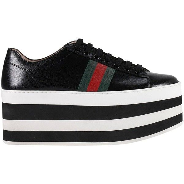 2782477d67 Sneakers Peggy Sneakers With Striped Maxi Plateau and Web Bands ( 632) ❤  liked on