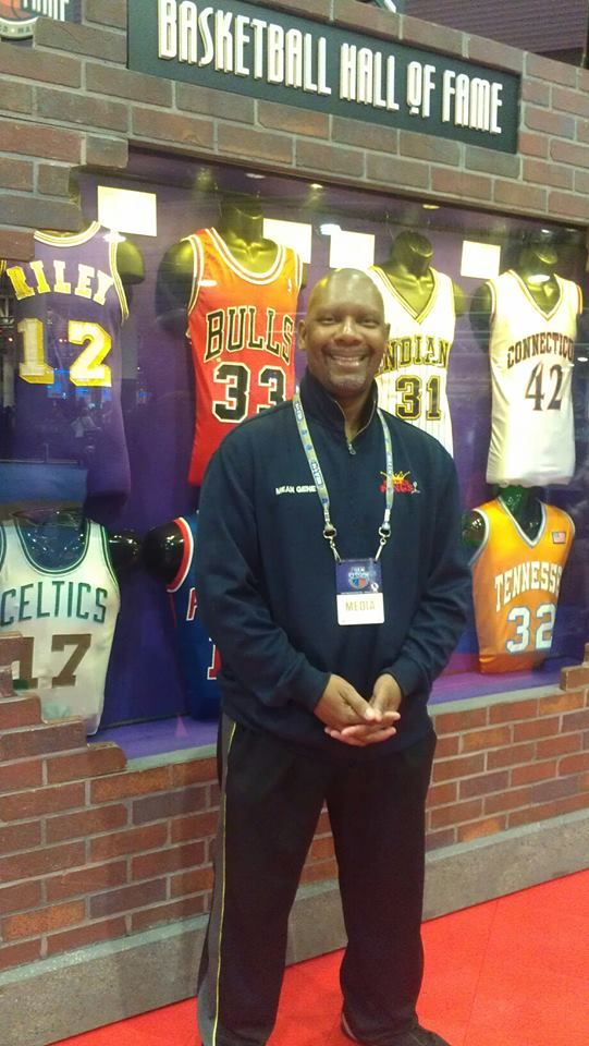 MeanGene at the NBA Hall of Fame display in New Orleans