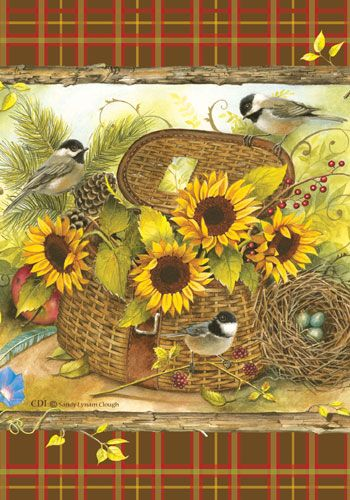 autumn fall sunflowers clip art