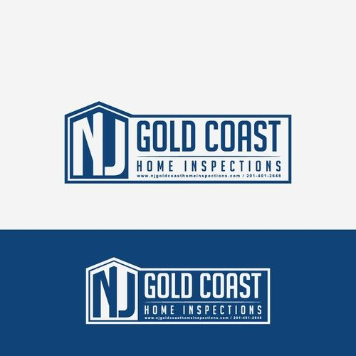 NJ Gold Coast Home Inspections   Design Home Inspection Logo For High End  NJ Clients