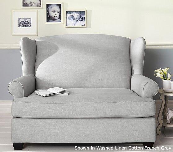 Sensational Wingback Twin Sleeper Pottery Barn Kids Love Seat For Dailytribune Chair Design For Home Dailytribuneorg