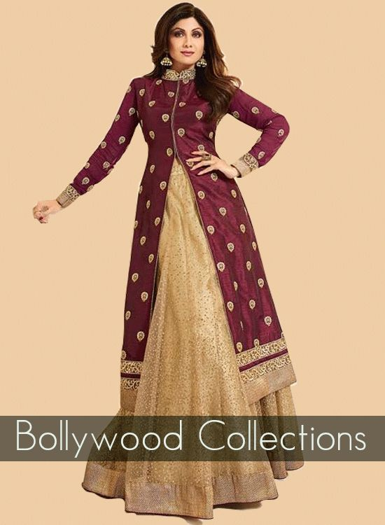 Buy Grey colour georgette double layered anarkali in UK, USA and Canada  through…