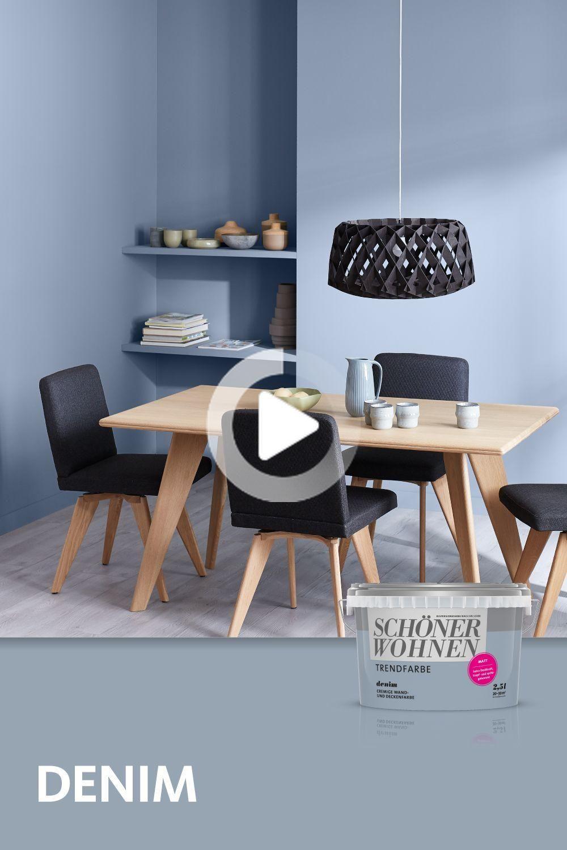 Trend Color Denim In 2020 Home Decor White Living Room Shabby Chic Decor