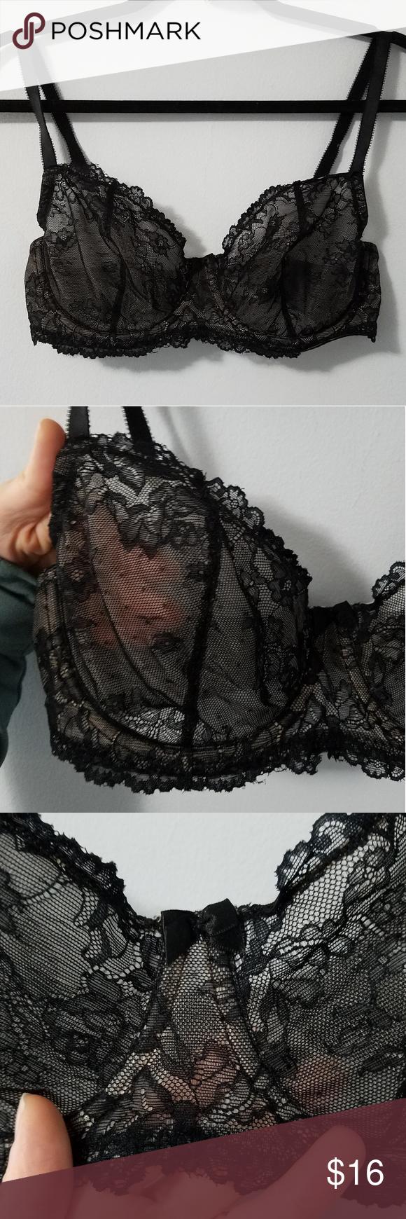 b9d4adffde0ad Sexy Apt9 black pink mesh lace unlined bra