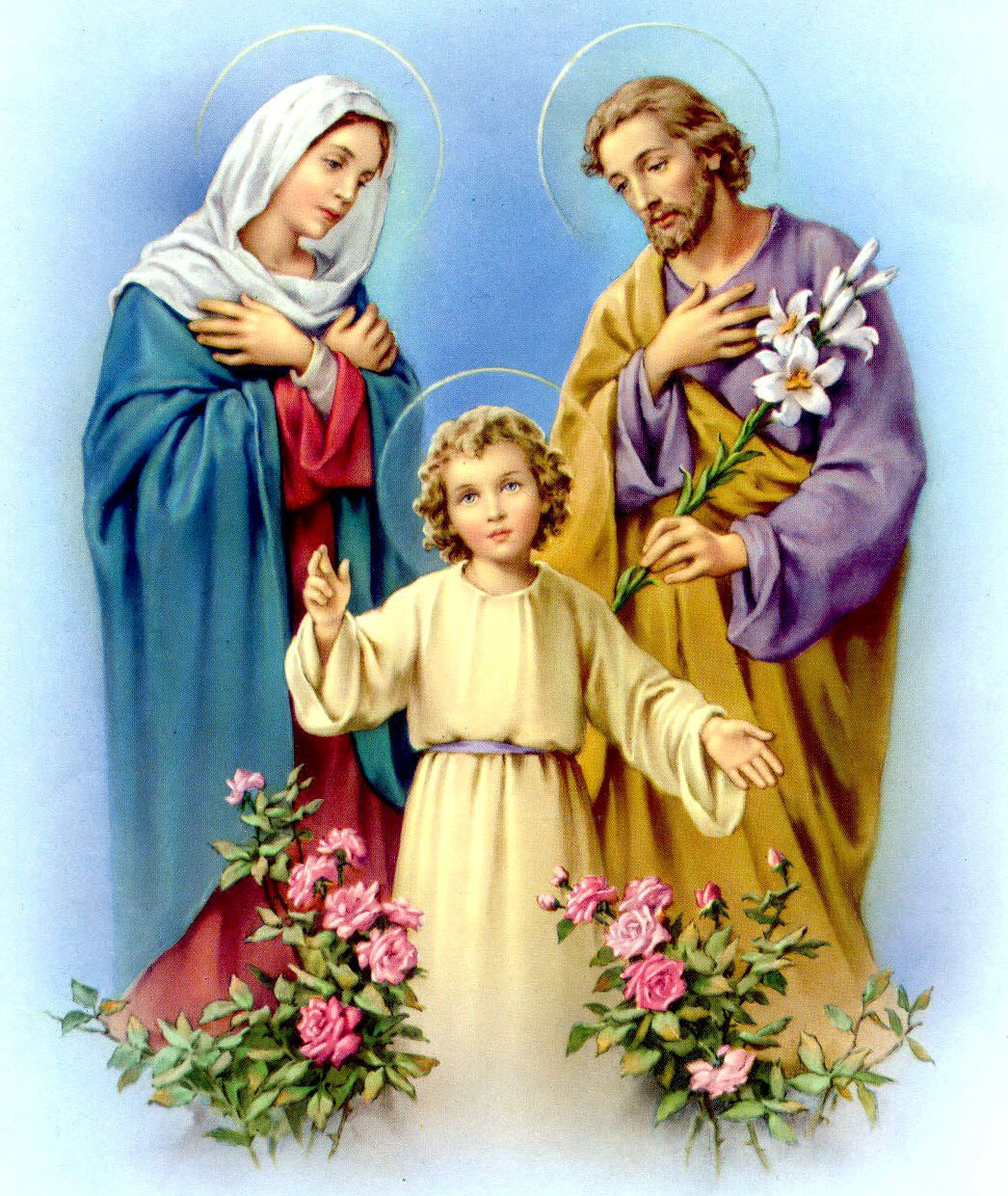 Catholic Holy Pictures Holy Family Jesus Mary And Joseph Cross Paintings