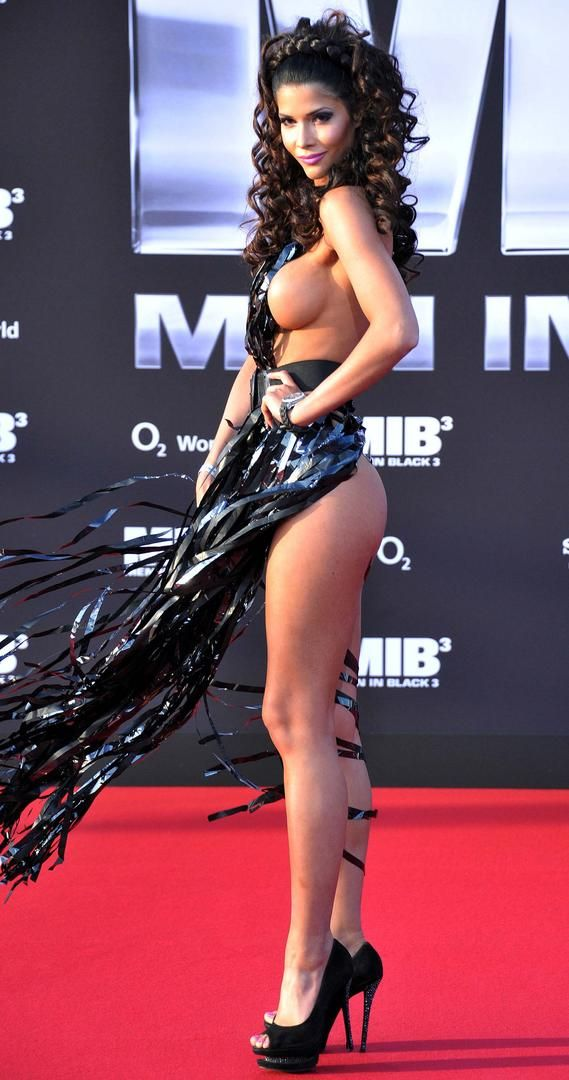 The Most Revealing Red Carpet Looks Ever Micaela Schaefer At German Premiere Of Men