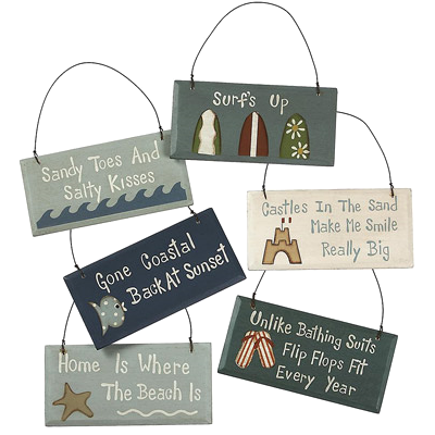 Home Is Where The Beach And Other Sayings On Mini Signs