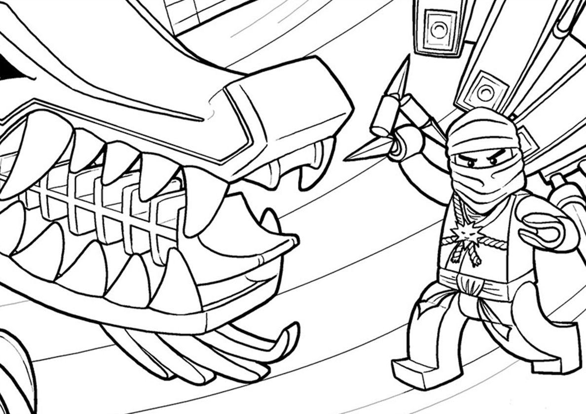 Kay Under Attack Cartoon Coloring Pages Ninjago Coloring Pages