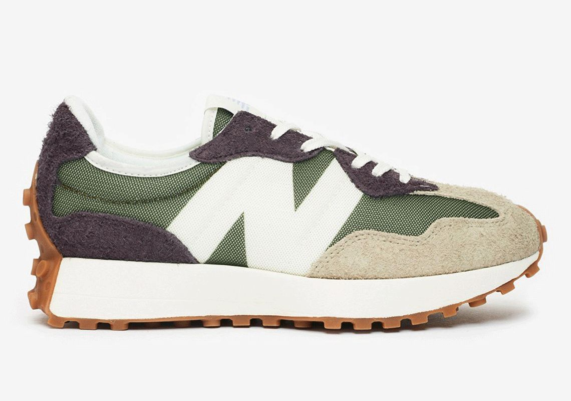New Balance 327 Olive Green Release