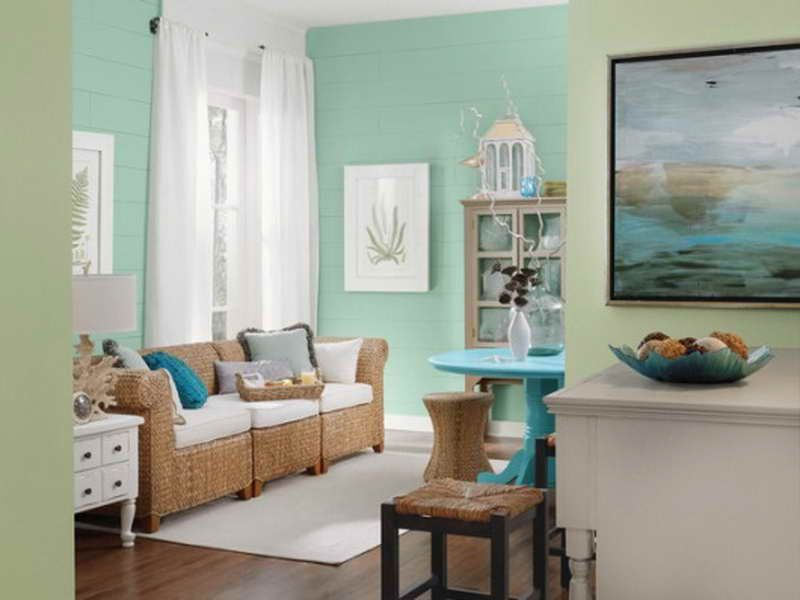 Beach Themed Living Room Design Pleasing Mint Green Room  Traditional Mint Green Living Room  Living Room Inspiration Design