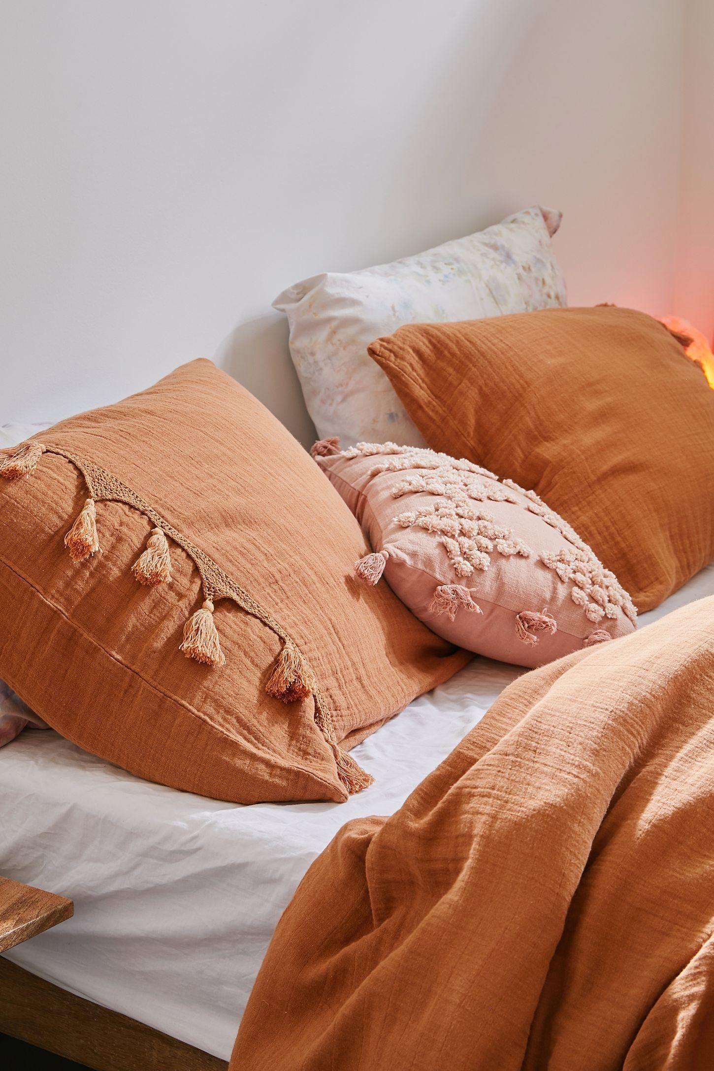 burnt orange pillow shams online