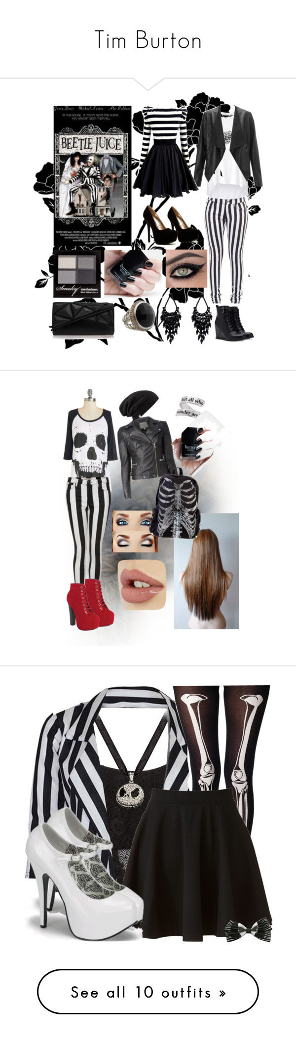"""Tim Burton"" by ericmyri ❤ liked on Polyvore featuring Forever 21, Qupid, Witchery, Lipsy, Dabuwawa, H&M, Oasis, David Yurman, Vince Camuto and Topshop"
