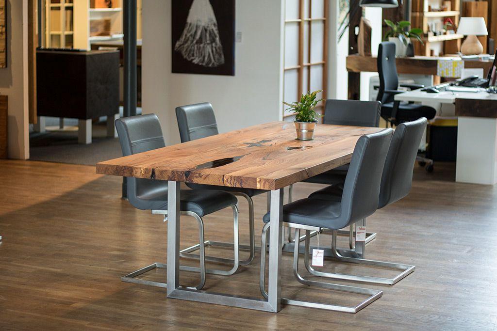 Esstisch Platte aus Spessarteiche Rustikal vom Schreiner | Tisch ...