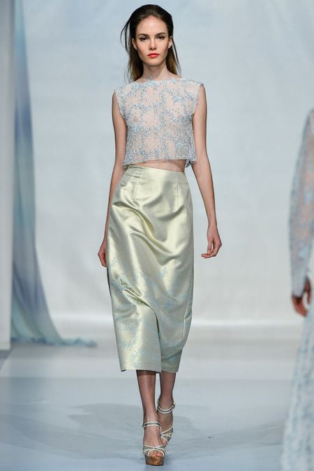 #LuisaBeccaria #Spring2014 #Catwalk #trends #MilanFafhionWeek #Milano #SS/2014 #croppedTop #topCorto #flores #flowers #in