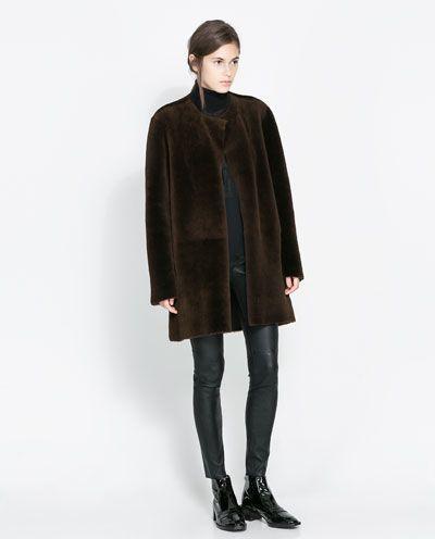 Abrigo Studio Merino Pinterest Zara Reversible Mujer Fq5wf7T