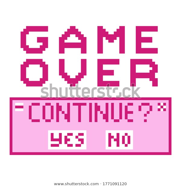 Retro Text Game Over Continue Button Stock Vector Royalty Free 1771091120 Retro Text Text Games Text Image