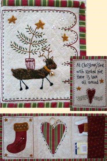 Christmas Needlecase da Lynette Anderson - Schemi Punto Croce - Ricamo - Casa Cenina