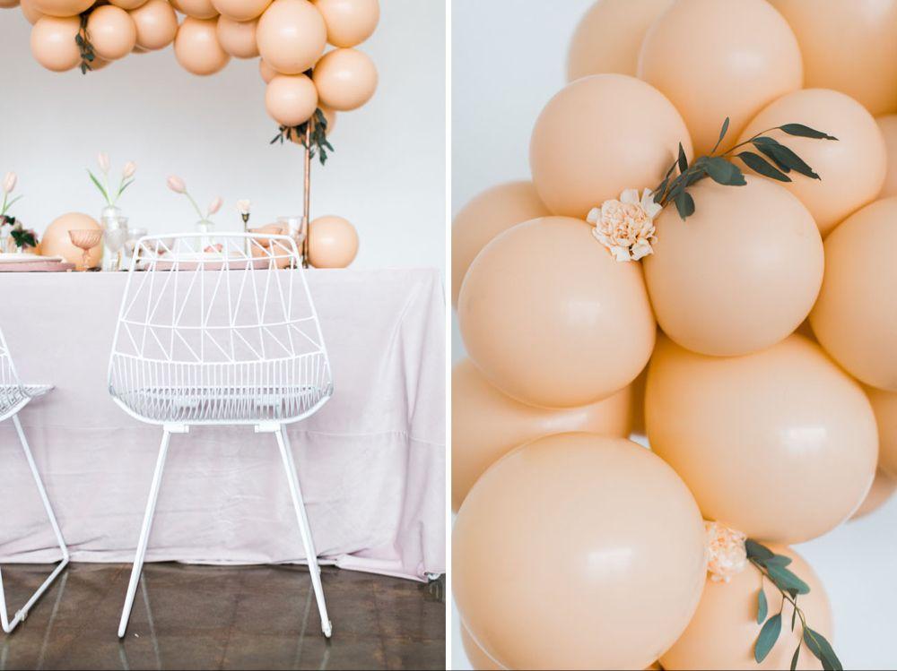 Pastel Peach Tutu Flower Girl Dress