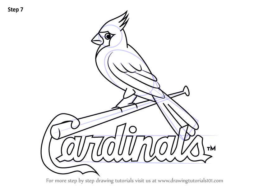 How to Draw St. Louis Cardinals Logo - DrawingTutorials101.com | stl ...