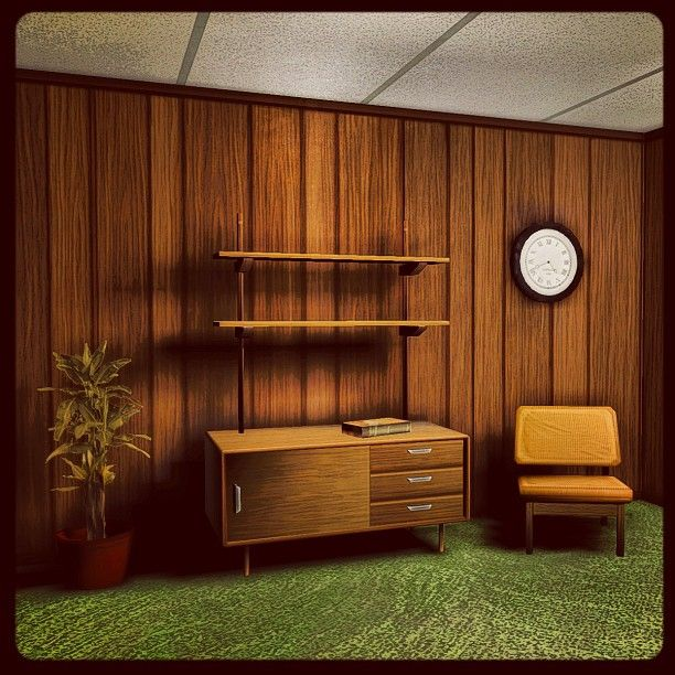 70 39 s living room wip image headlikeahole for 70s office design