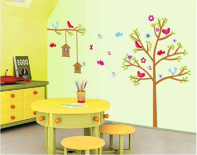 DIY Wall Sticker Tree House Removable stickers home decor for kids ...