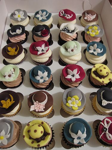 Hat Party Cupcakes OOOOOHHHH, So cute!!