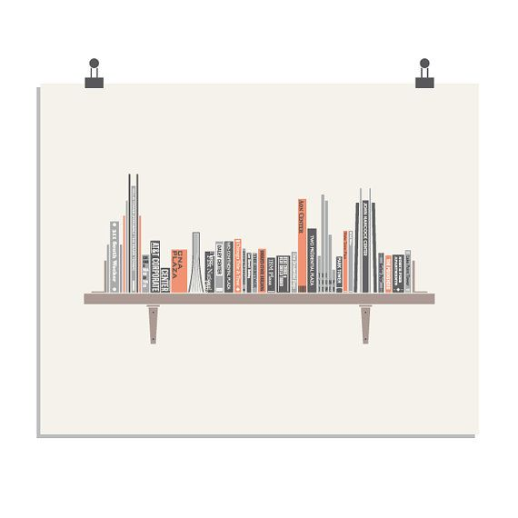 Not Chicago, but neat idea! Chicago Bookshelf  a Books Travel & Architecture inspired
