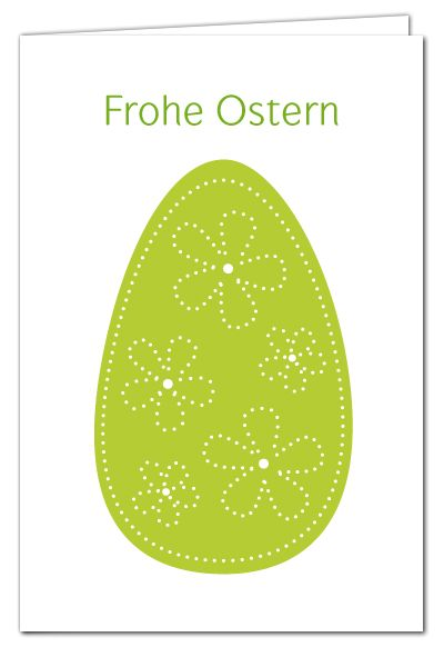 Osterkarte Zum Prickeln   Osterei Grün   Frohe Ostern   Mit Farbigem  Umschlag   Basteln Mit