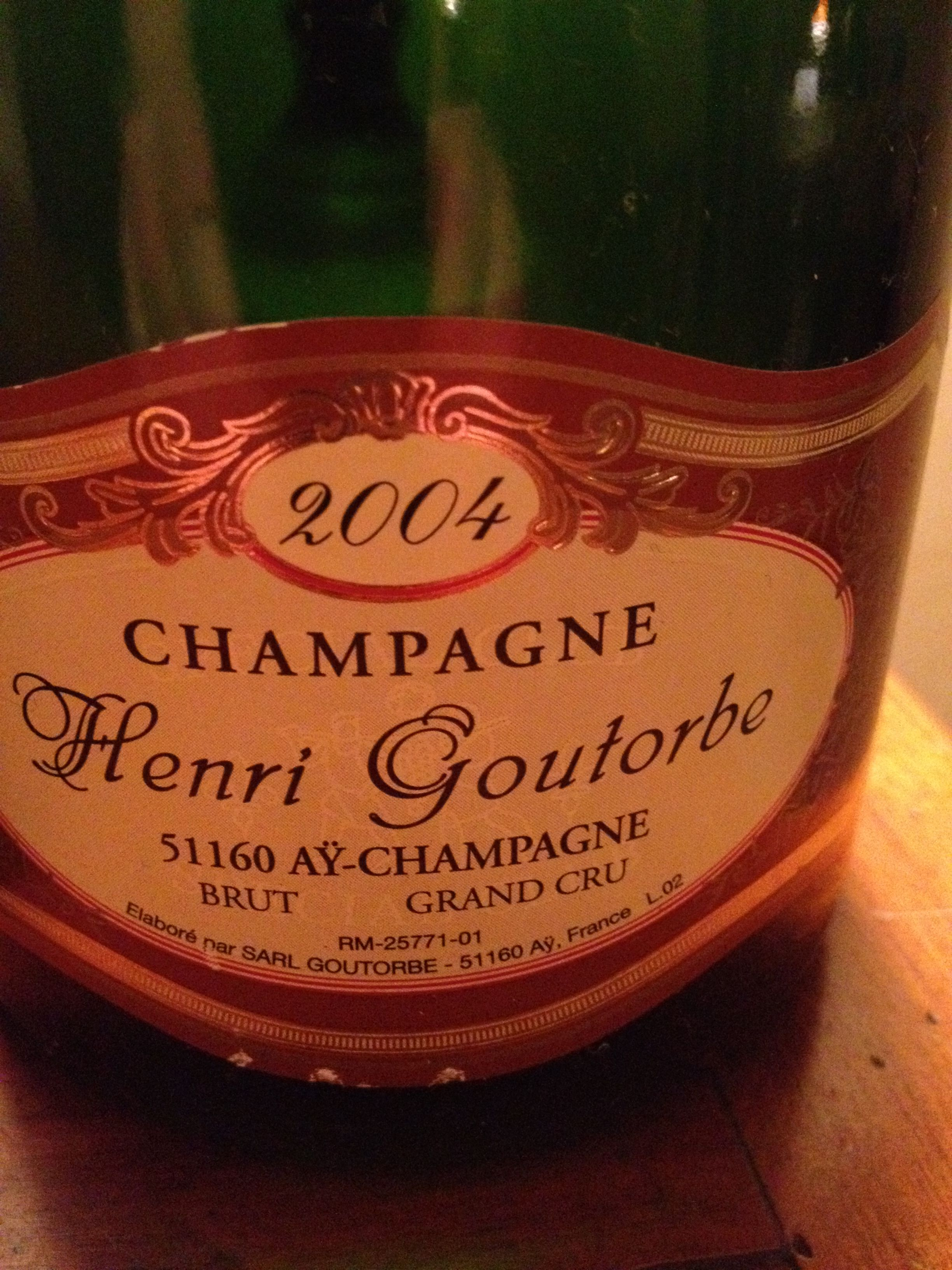 2004 Henri Goutorbe Brut Grand Cru Champagne Champagne Cru Grands