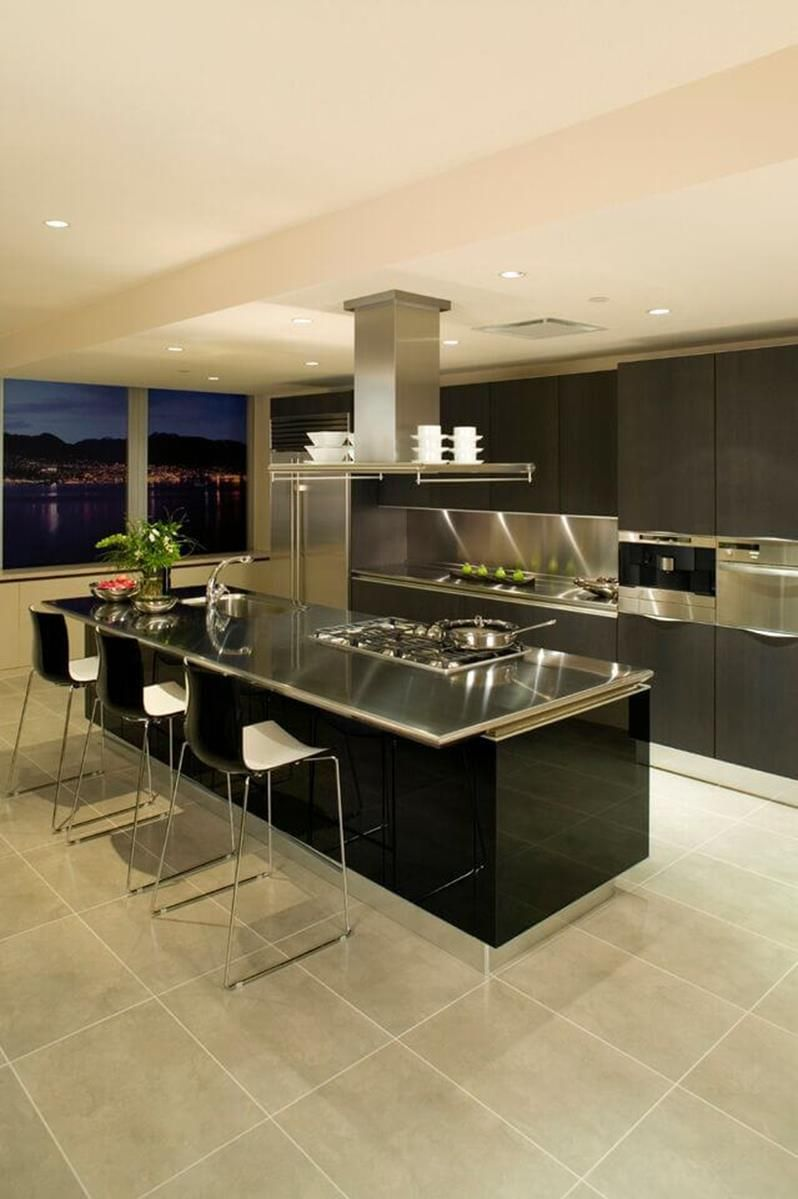Stunning Ultra Modern Kitchen Island Design Ideas Trendy Kitchen