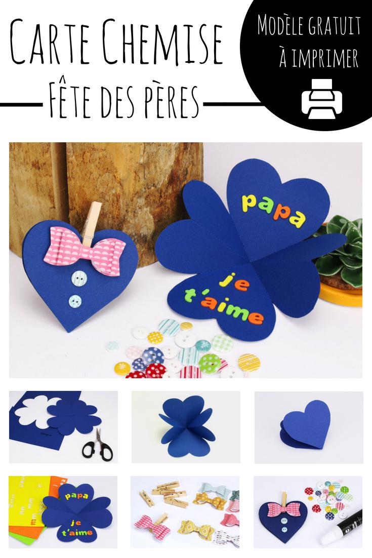 Carte Chemise Coeur Fete Des Peres Fete Des Peres Maternelle
