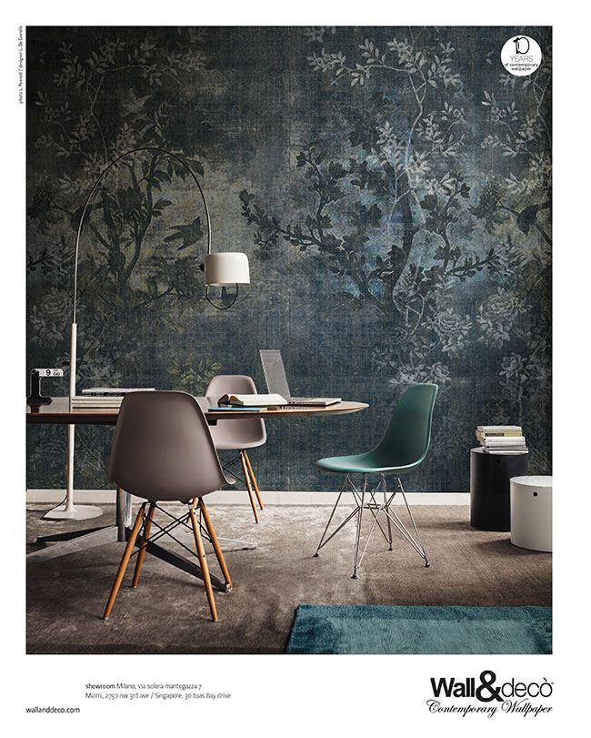 Wandmalerei Wohnzimmer Ideen: Contemporary Wallpaper - Wall & Decò
