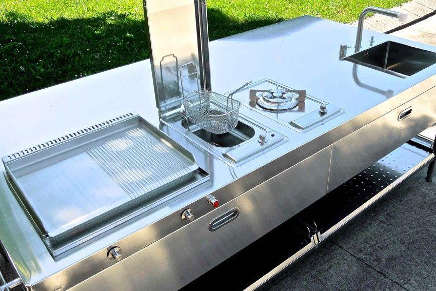 Cucina Outdoor 250 Alpes Inox Nel 2020 Cucine Acciaio