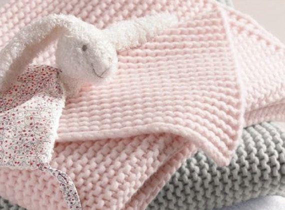 Baby Blanket Knitting Pattern For Beginners Easy Baby Crib Throw