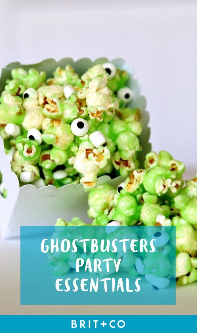 These are the perfect party essentials for your Ghostbusters party