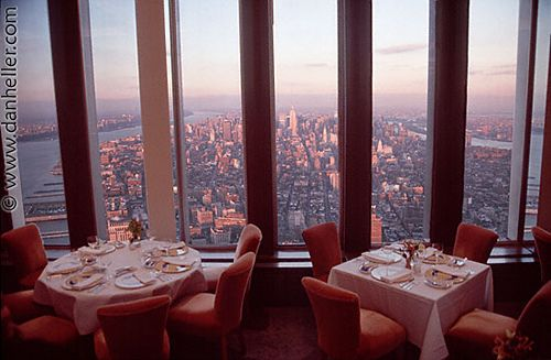 Windows on the World Restaurant atop World Trade Center Lost on 911