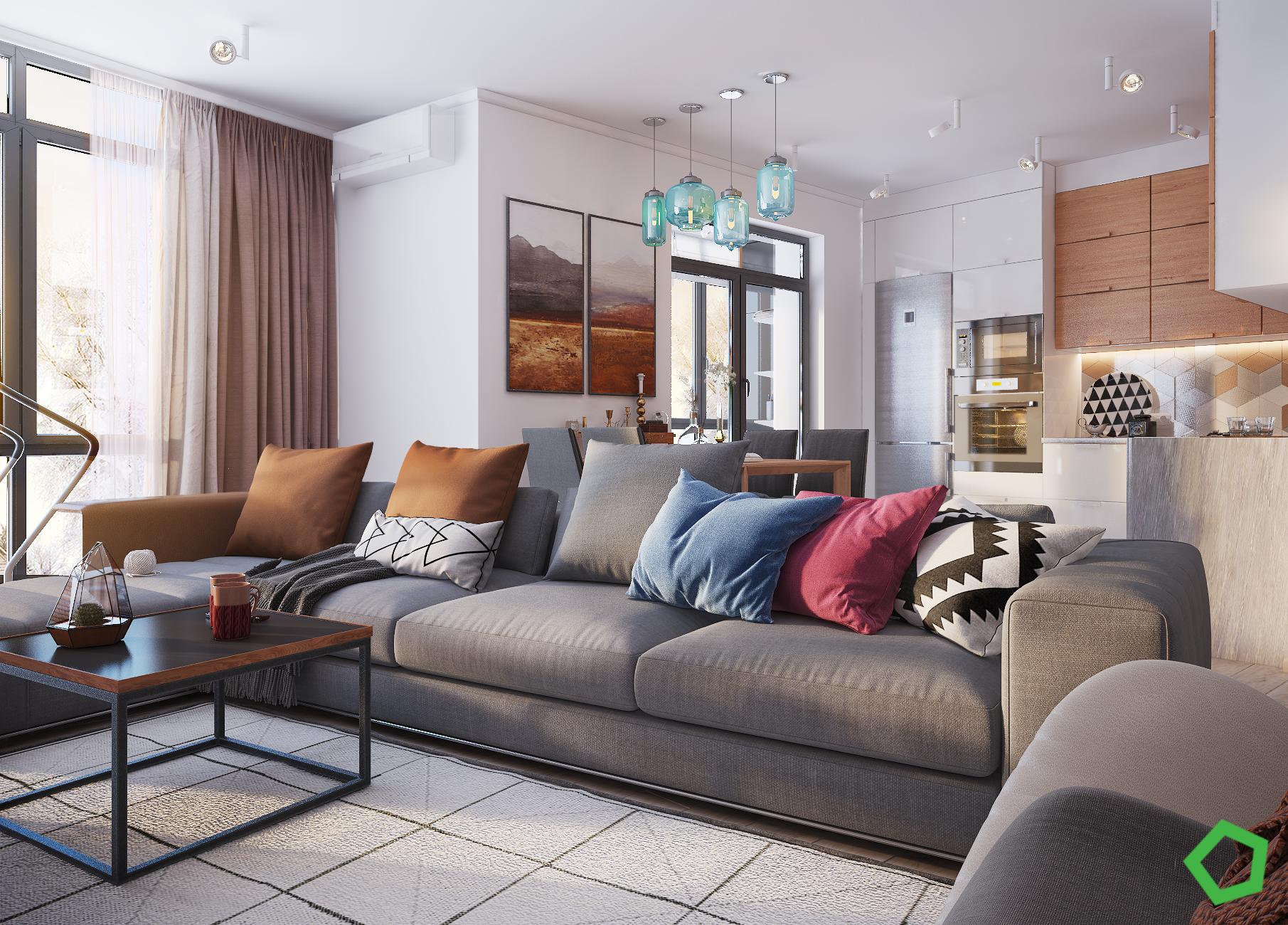 Rustam apartament on Behance