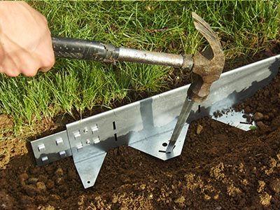 BORDURE DE JARDIN EQUERRE H 65 mm ACIER GALVA Bordures de jardin