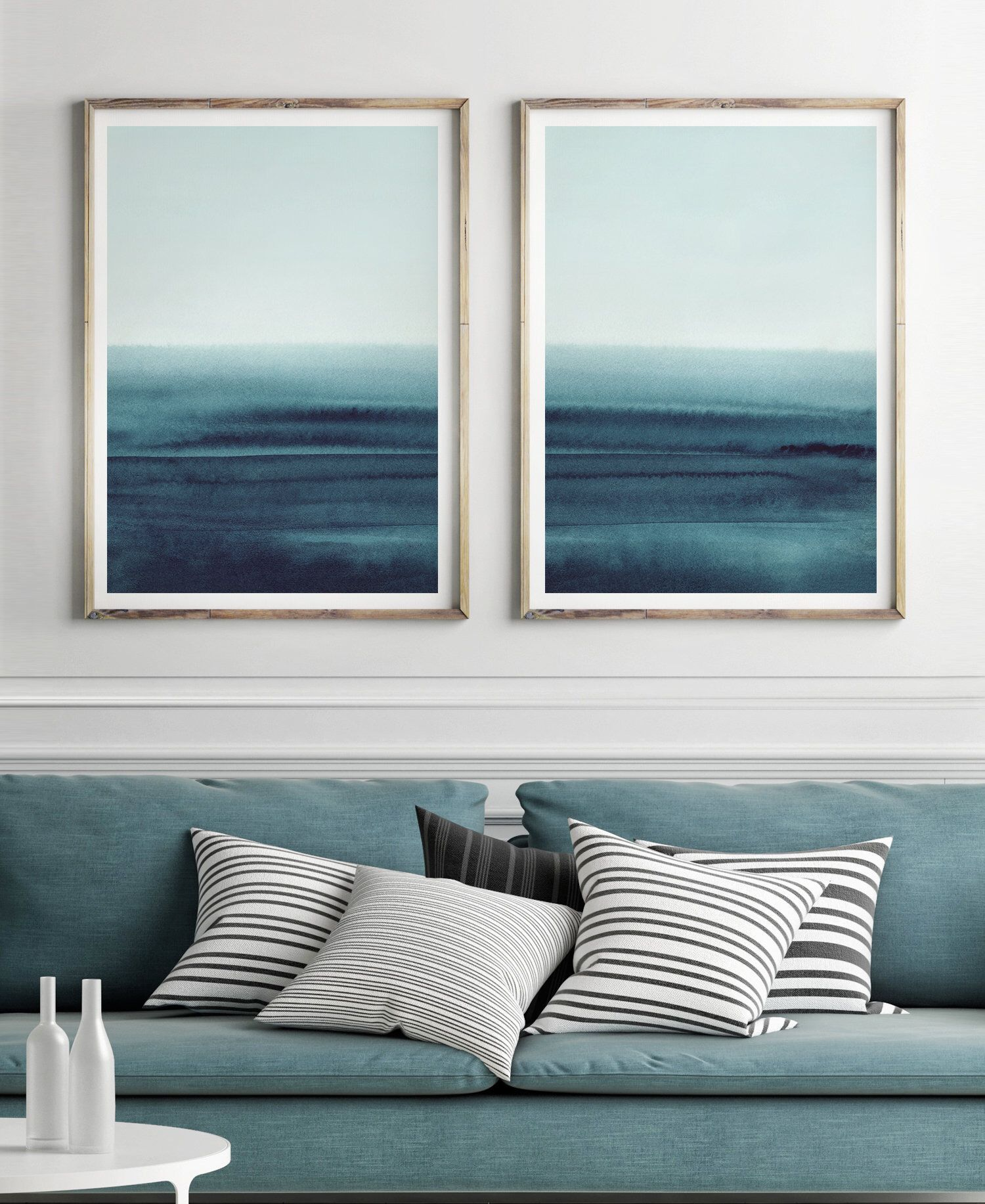 Teal Wall Art Set Of 2 Prints Printable Art Printable Print Etsy Teal Wall Art Living Room Art Bedroom Prints #teal #wall #art #for #living #room