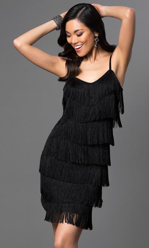 Fringe Dress Short
