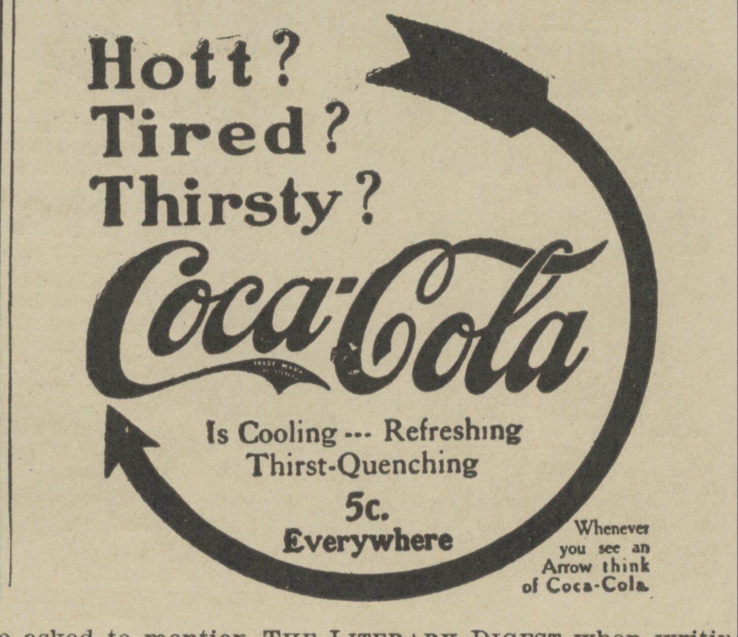 1906 Coca Cola Ad with Cocaine Reproduction