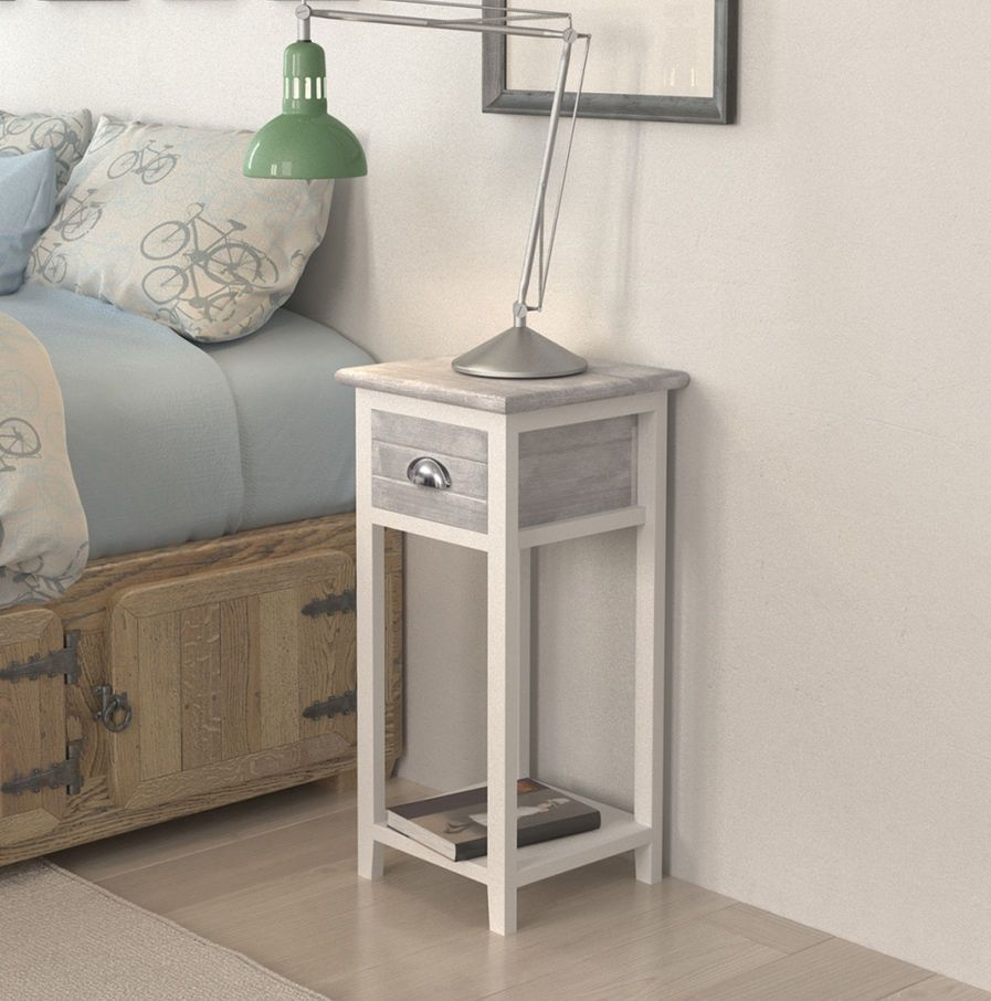 Best Small Bedside Table Lamp Phone Stand With Storage Drawer 400 x 300