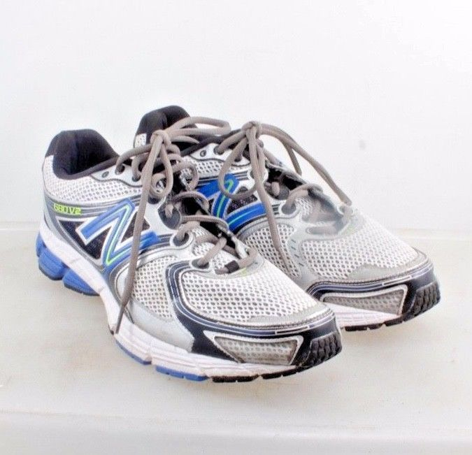 competitive price 6e781 c564a New Balance 680v2 Running Shoes White Gray Blue Mens 13 D  NewBalance   Performance  running